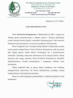 List referencyjny BULiGL
