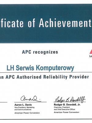 Certyfikat APC