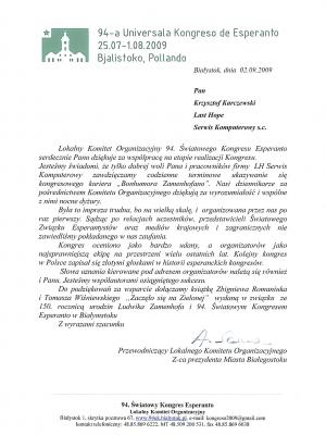94 Światowy Kongres Esperanto w Białymstoku