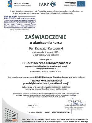 Certyfikat SMD i BGA PARP